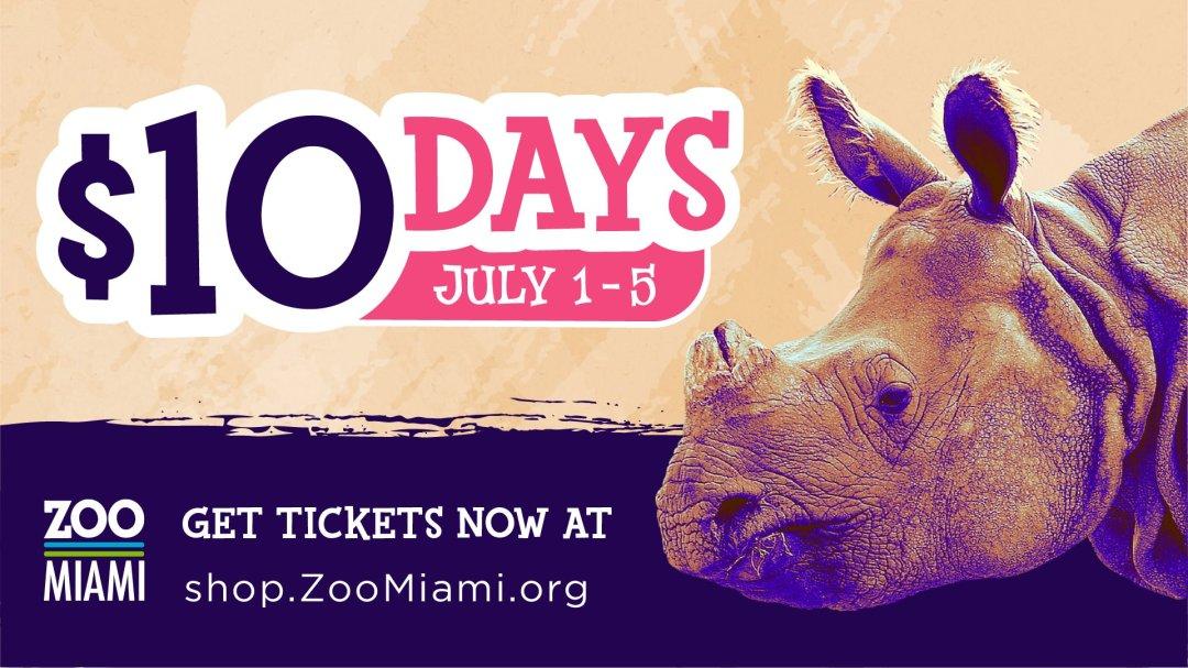 $10 entrada al Zoo Miami